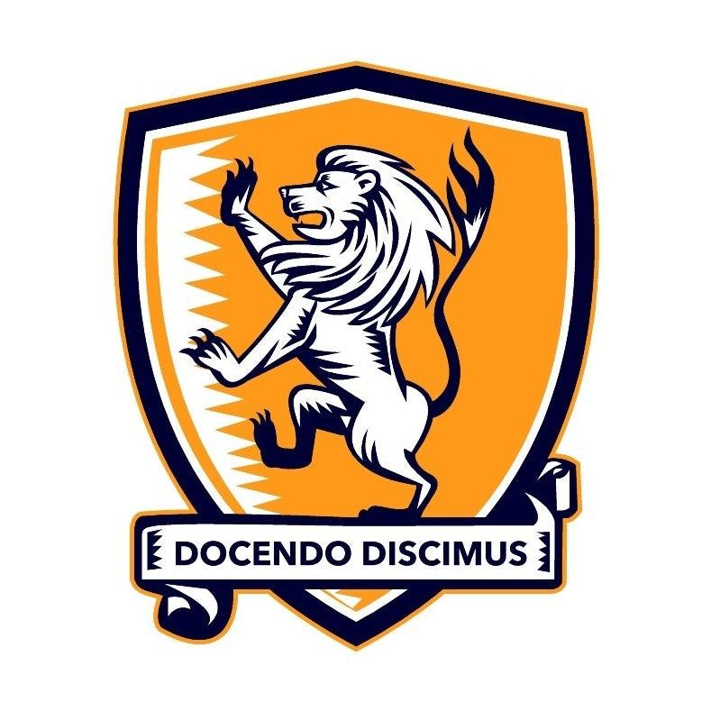 学术会徽徽标logo设计-纹章盾上的狮子徽标logo