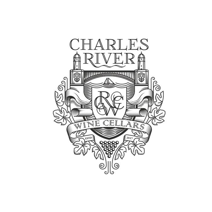 中世纪会徽徽标logo设计-带有缩写和卷轴的纹章徽章标志