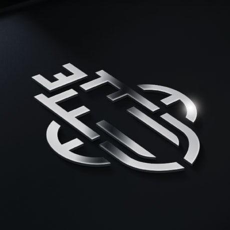 低调的银色logo设计-Farah Barakat珠宝logo设计