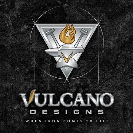 """坚固和坚韧的重金属logo设计-Vulcano设计logo""""圆形与三角"""""""