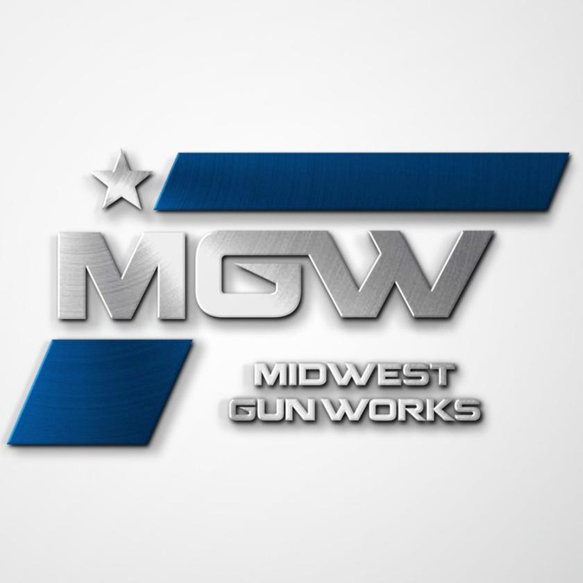 坚固和坚韧的重金属logo设计-枪店标志设计