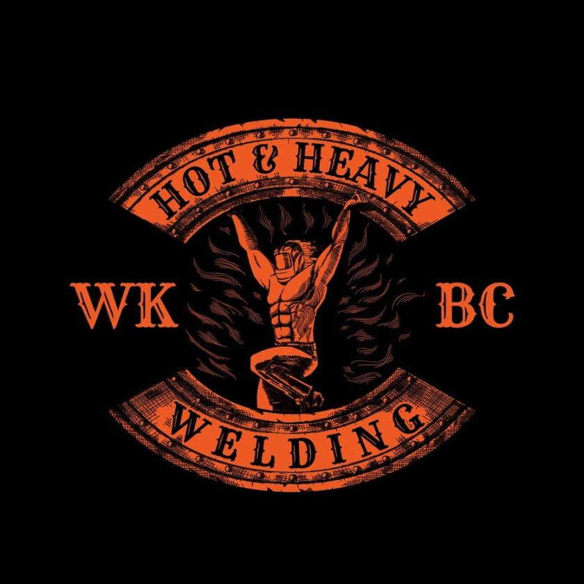 坚固和坚韧的重金属logo设计-便携式焊接公司标志设计