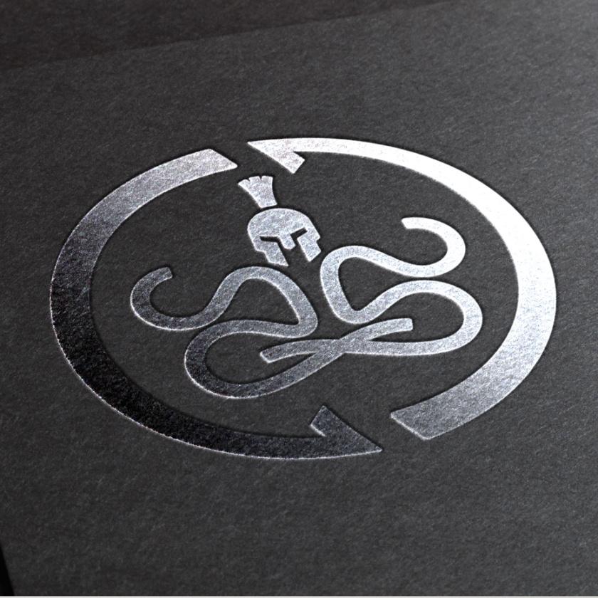 坚固和坚韧的重金属logo设计-强烈的意图标志logo设计