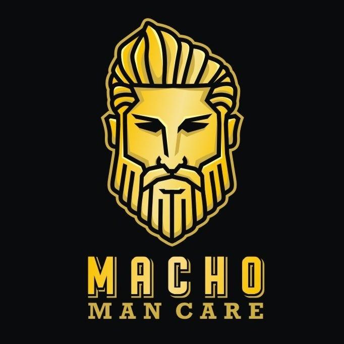 坚固和坚韧的重金属logo设计-男子气概男人护理人脸logo设计