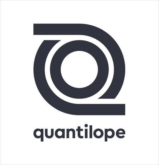 Quantilope市场调研分析公司logo设计,一个循环的线条图形