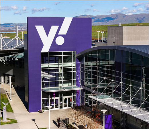 yahoo! 雅虎揭示新logo设计品牌形象VI设计