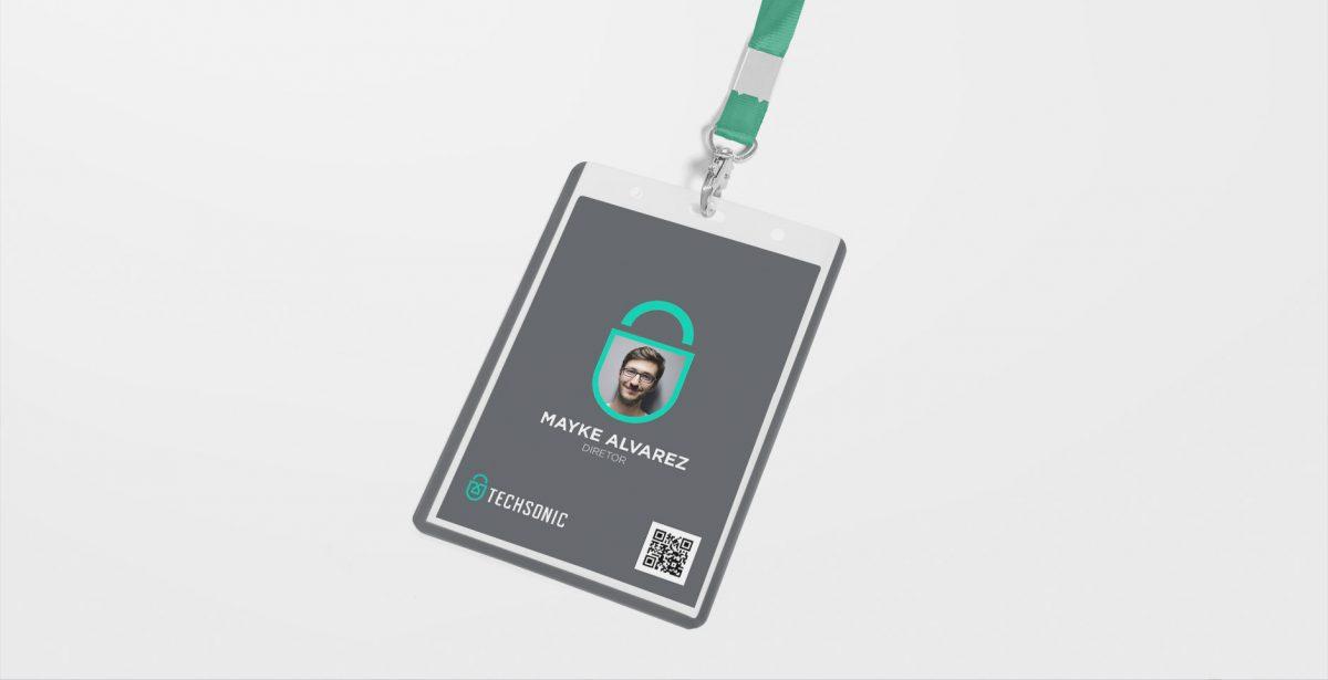 Techsonic 电子安全监控设备公司logo设计vi设计