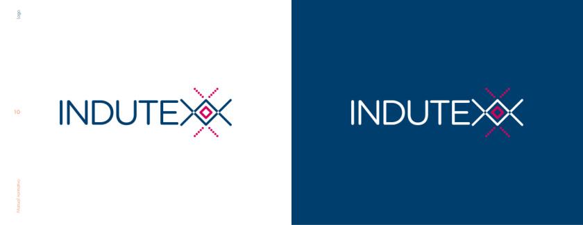 Indutexx 纺织面料品牌logo设计,几何线条风格