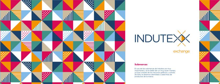 Indutexx 纺织面料品牌vi设计logo设计,几何线条风格