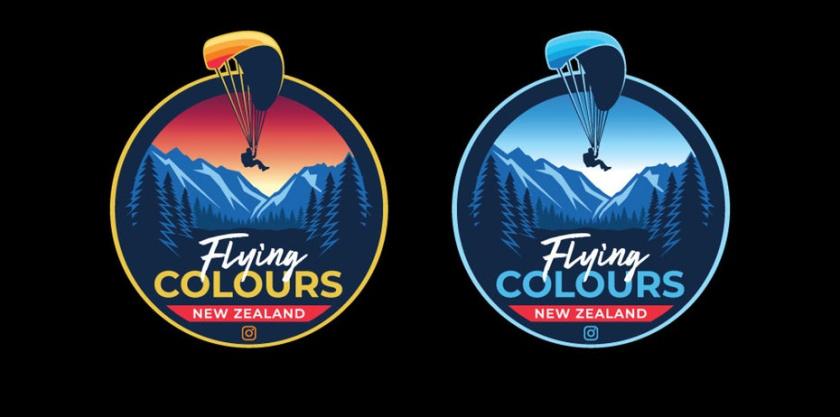 飞行色彩徽标logo设计