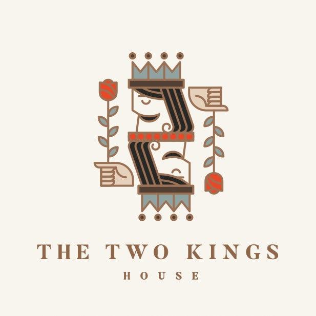 几何logo设计-两位国王之家logo设计