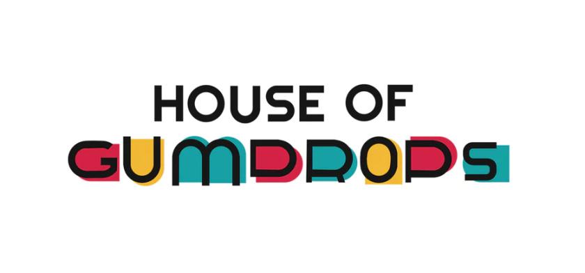 彩色House of Gumdrops贺卡公司logo设计