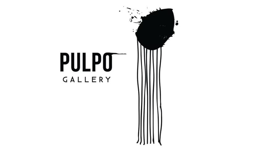抽象Pulpo Gallery徽标logo设计