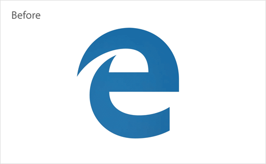 Microsoft Edge 网络浏览器旧版logo设计