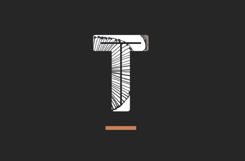 Tiosk茶饮餐饮fun88体育备用形象fun88乐天使备用,水墨线条画风格