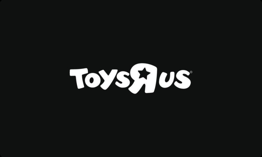 黑色和白色的ToysRUs徽标logo设计
