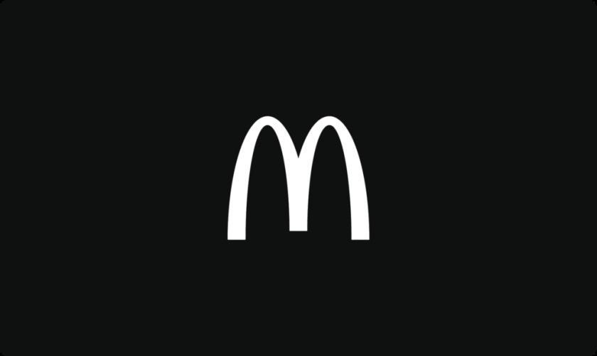 黑色和白色的麦当劳logo