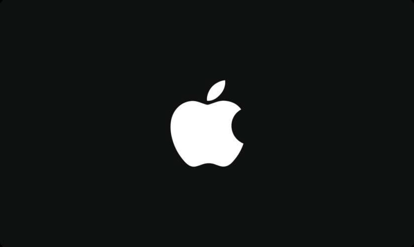 黑色和白色的苹果标志性徽标logo