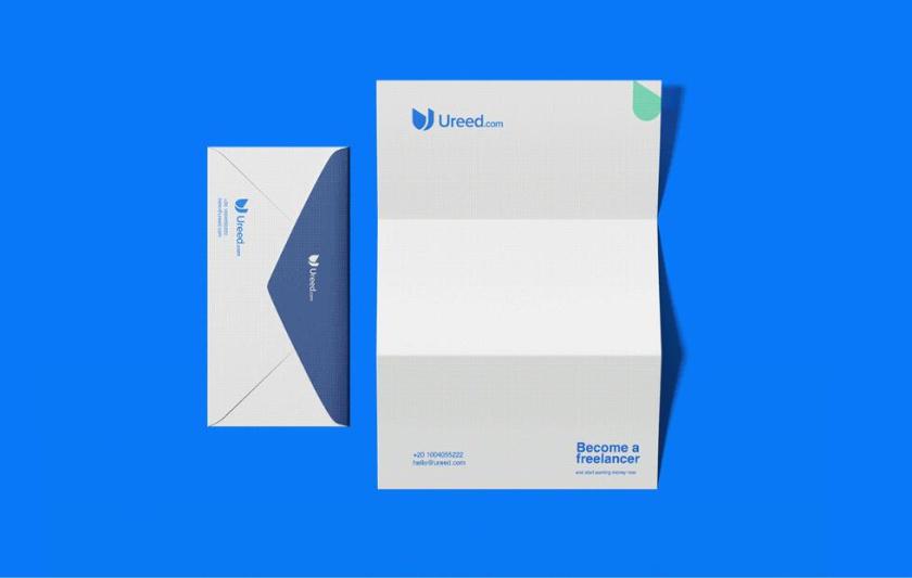 ureed 在线服务市场平台网站品牌logo设计vi设计,互联网科技风格