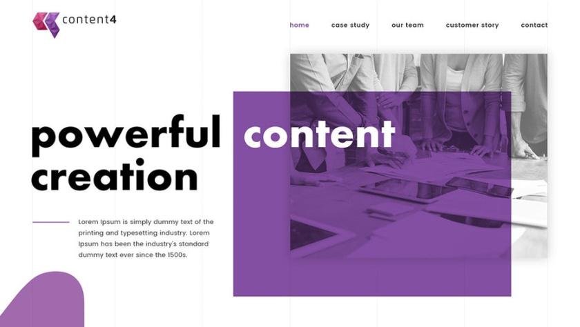 该网页设计从品牌标识中汲取了原色