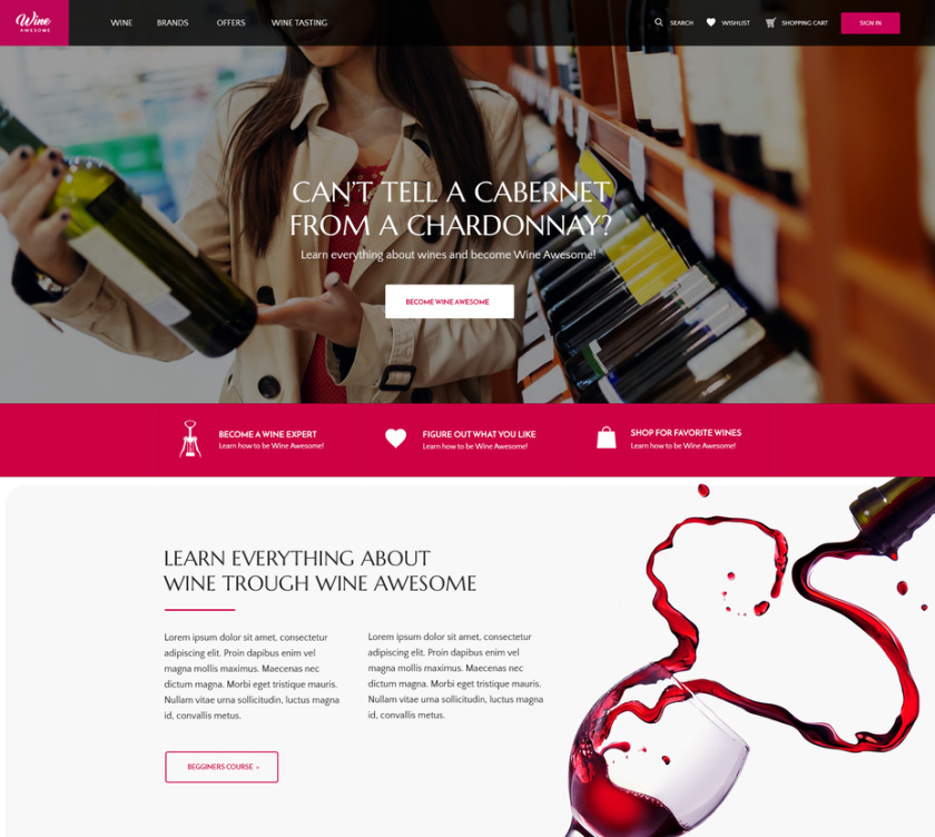 红色可以唤醒激情-暖色调网站设计