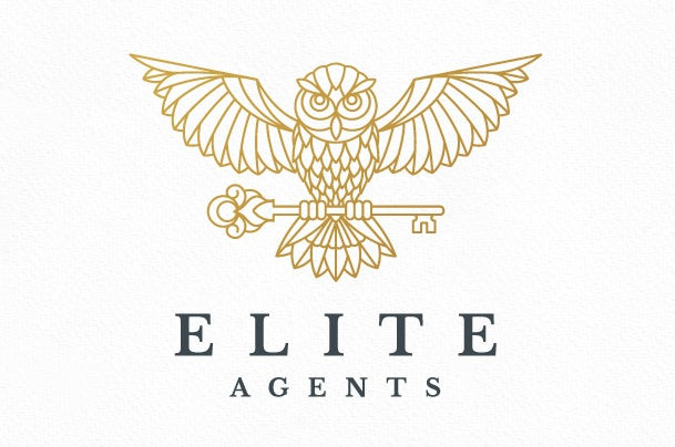 错综复杂的细节-Elite Agents标志设计