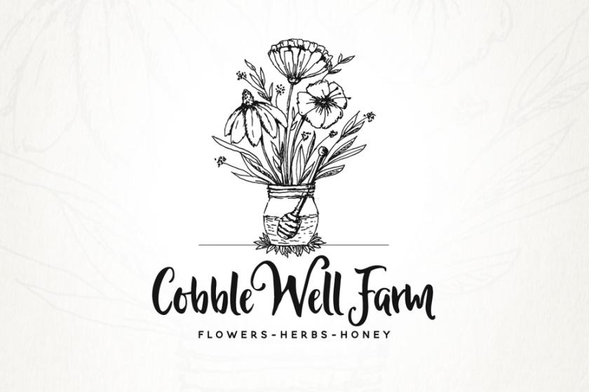 错综复杂的细节-Cobble Well Farm标志设计
