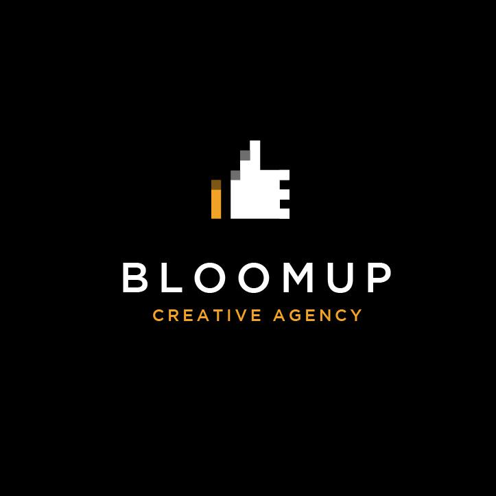 像素艺术-Bloom Up Creative Agency标志设计