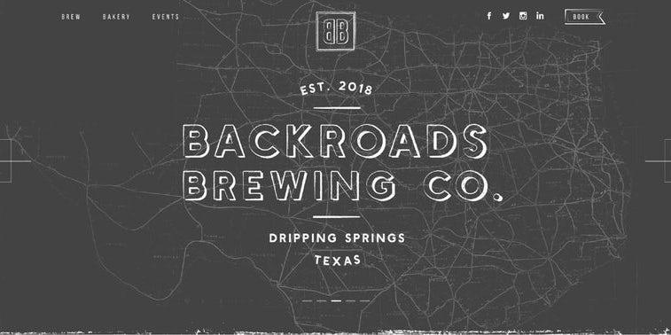 幽灵字母-Backroads Brewing Co.网页设计