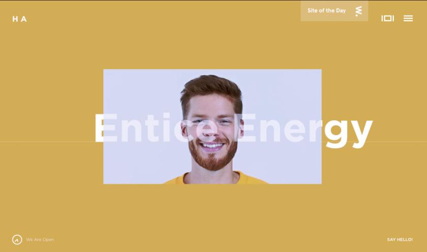 幽灵字母-HA网站设计主页截图