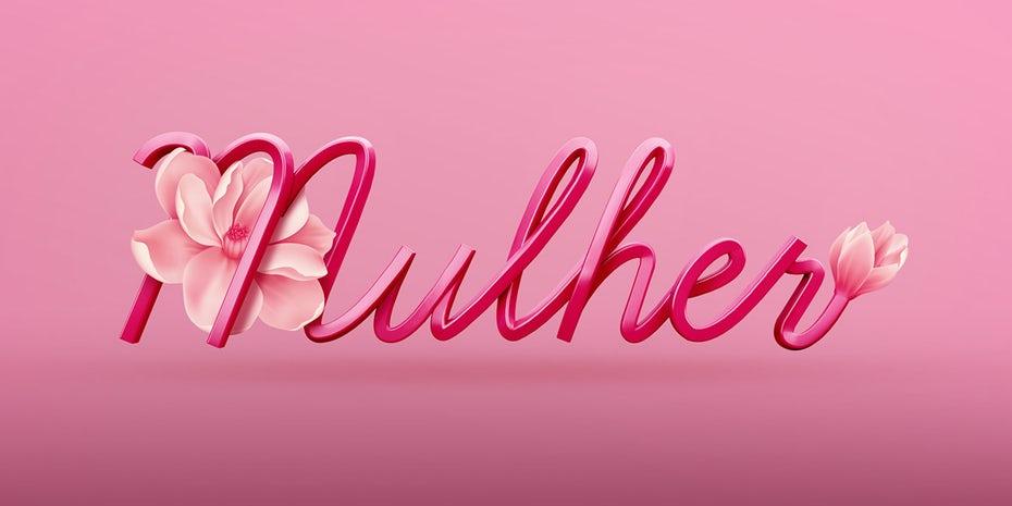 3D图像-Mulher标志设计