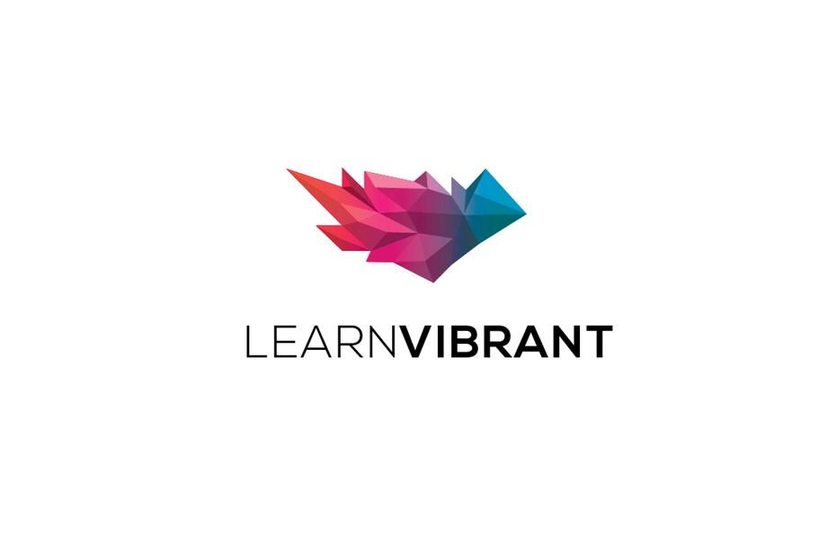 3D图像-LearnVibrant徽标logo设计