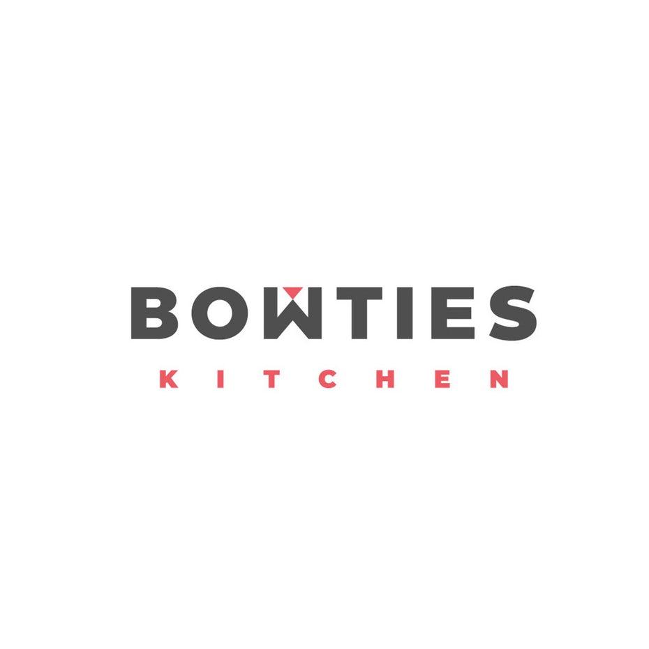 积极的负空间-Bowties厨房标志设计