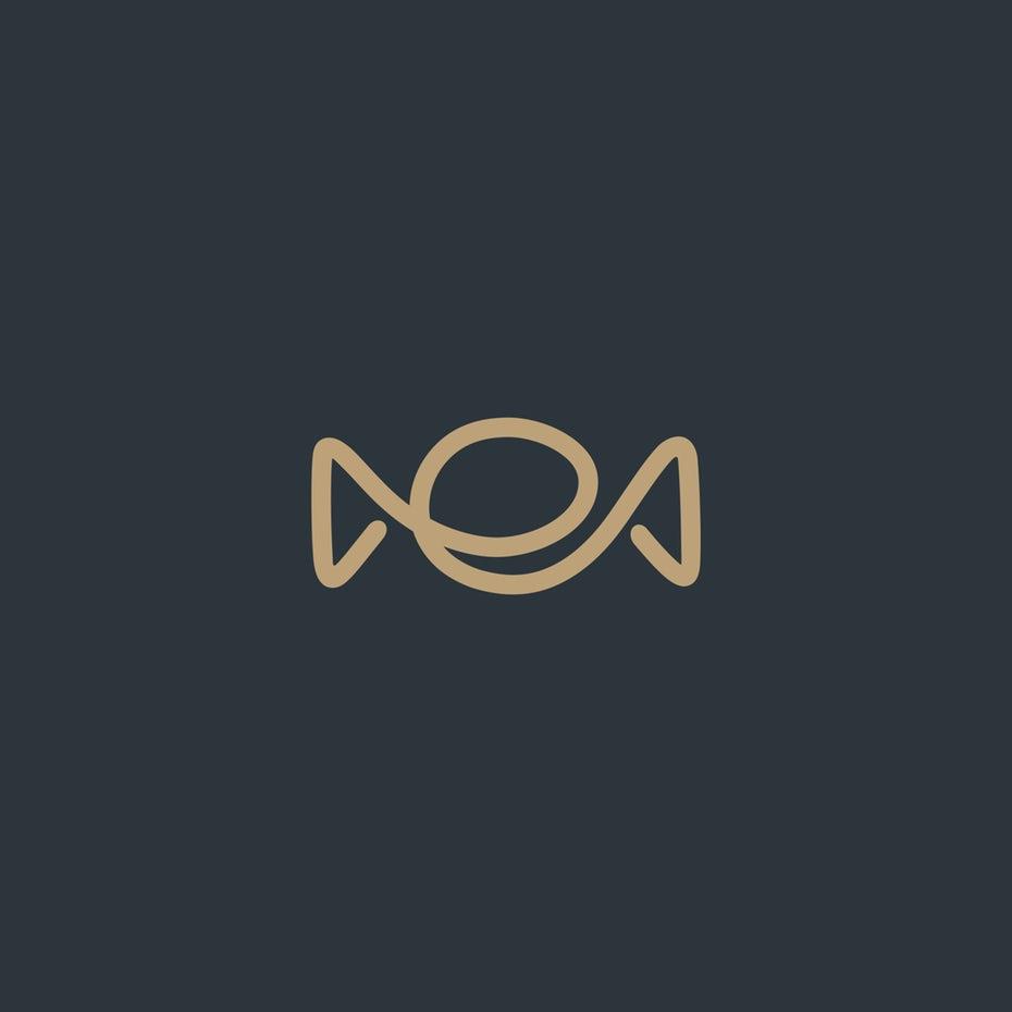 新极简主义-字母ME线条标志设计