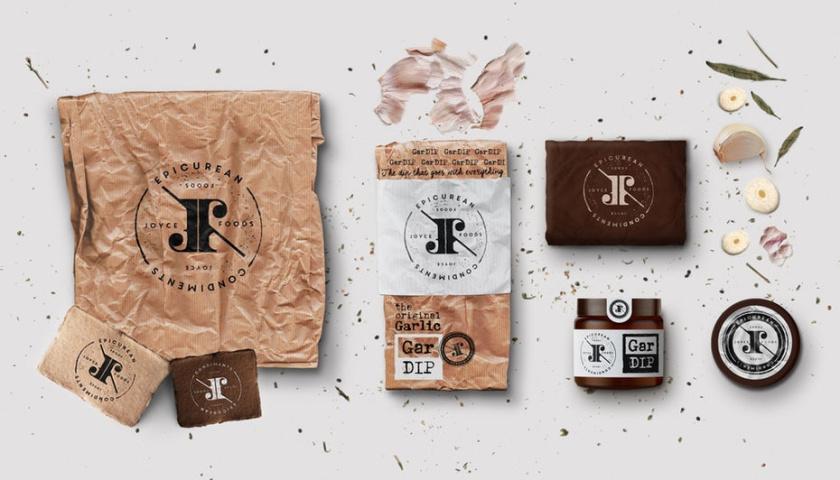 变形标识logo-Joyce Foods食品标志设计