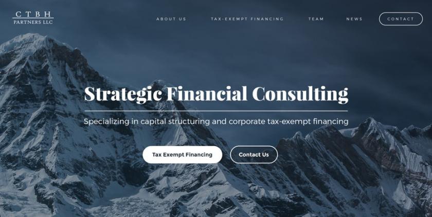 引人注目的衬线-CTBH Partners,LLC网页设计