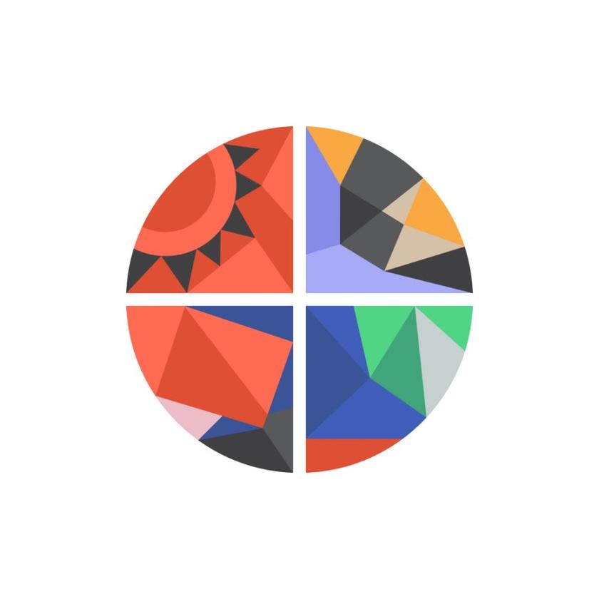 友好的几何图案-Instagram徽标logo设计
