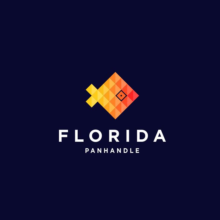 友好的几何图案-佛罗里达州Panhandle标志设计