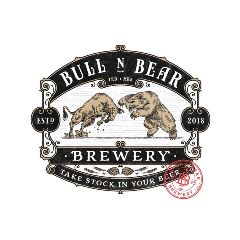 复古风格-Bull N Bear Brewery标志设计