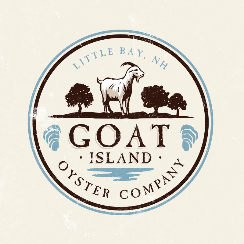 复古风格-山羊岛牡蛎公司标志设计
