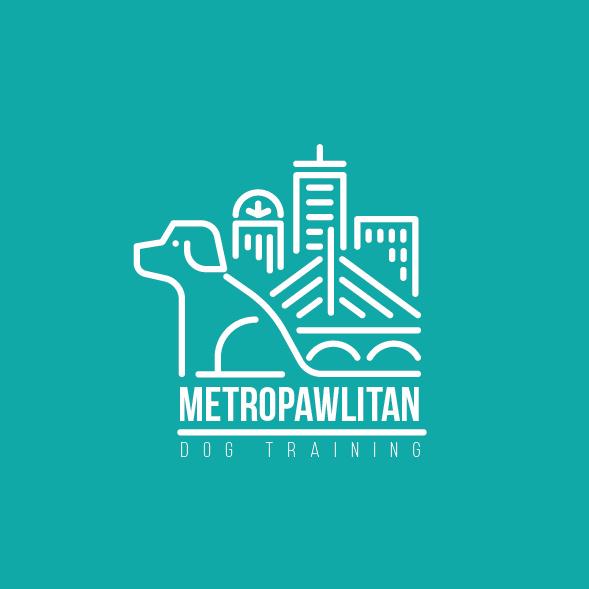 Metropawlitan狗徽标设计