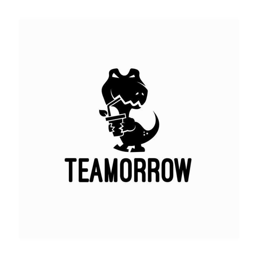 Teamorrow t rex 恐龙 logo设计