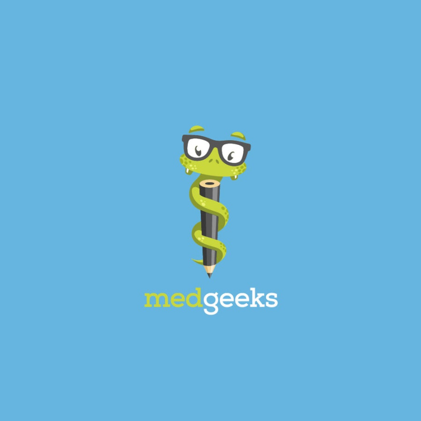medgeeks蛇徽标logo设计
