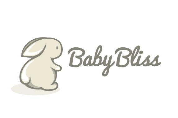BabyBliss兔子徽标标志设计