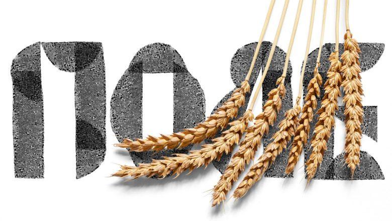 Zhatva农产品食品食用油包装设计,水墨色的字母和图案