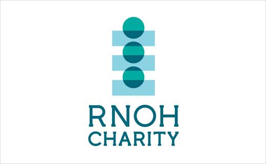 RNOH骨科慈善医院品牌形象设计,logo设计犹如人体脊柱或落入筹款罐的硬币