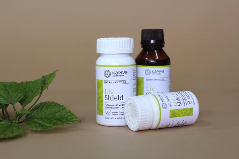 Kapiva处方药药品包装设计,严谨的色块加植物插图