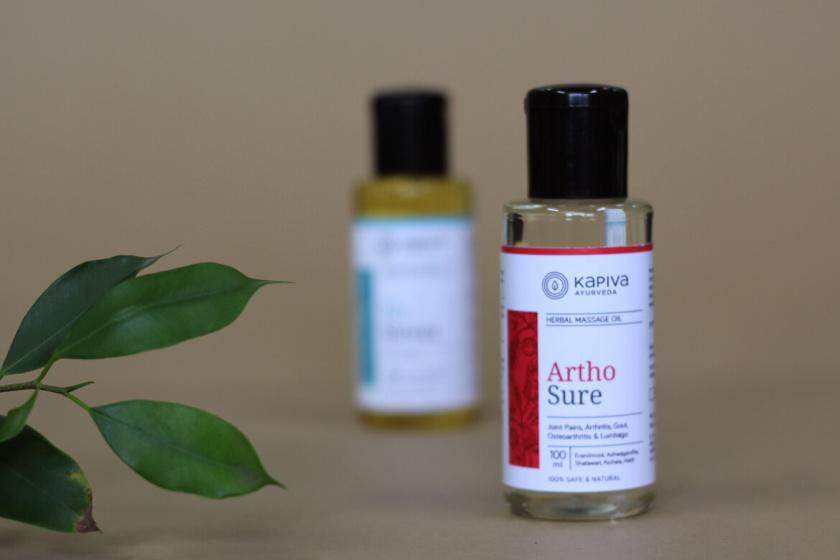 Kapiva药品包装设计,严谨的色块加植物插图