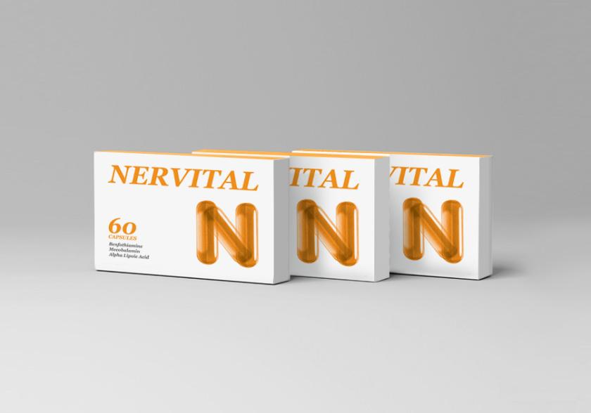 Nervital药品包装设计,值得借鉴的品牌符号设计