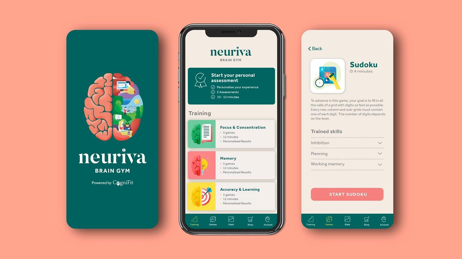 Neuriva 大脑健康营养补充系列保健品品牌手机端设计